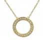Preview: Collier Circle of Life mit 25 Zirkonia Gold 333/000