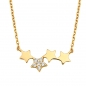 Preview: Collier Sterne/Zirkonia Gold 585/000