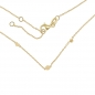 Mobile Preview: Collier mit Dot-Herz-Stern 38/40/42cm Silber 925/000 vg.