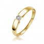Preview: Lovebird Spannring mit Brillant 0,10 ct. Gold 585/000