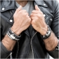 Preview: Frank 1967 Armband Achat / Tigerauge 8mm breit Edelstahl