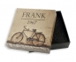 Preview: Frank 1967 Armband rot/grau 8mm breit Edelstahl