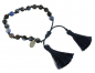 Mobile Preview: Lovebird Naturstein-Armband Achat blau