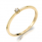 Preview: Lovebird Damenring mit Brillant 0,03 ct. Gold 585/000