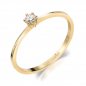 Preview: Lovebird Damenring mit Brillant 0,10 ct. Gold 585/000