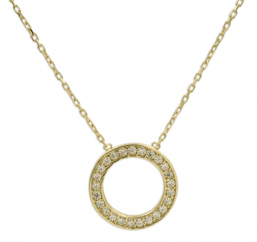 Collier Circle of Life mit 25 Zirkonia Gold 333/000