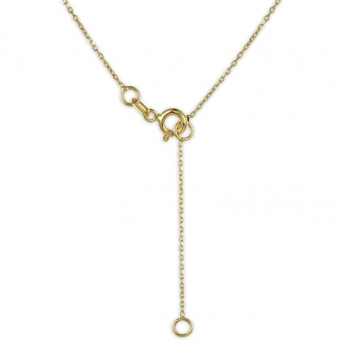 Collier mit Gravurplatte 8mm Gold 333/000
