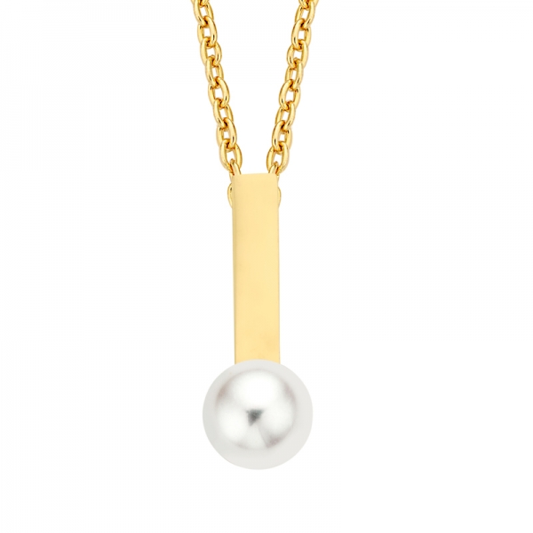 Collier mit SWZP 5mm Gold 585/000