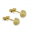Ohrstecker Halbkugel 4mm diamantiert Gold 333/000