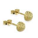 Ohrstecker Halbkugel 5mm diamantiert Gold 333/000