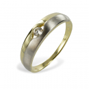 Ring Bicolor mit Zirkonia - Gold 333/000