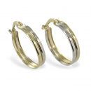 Creolen Bicolor 16mm - Gold 333/000