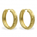 Klappcreolen 15/3mm diamantiert Gold 333/000