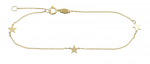 Armband 3 Sterne Gold 333/000