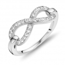 Ring Infinity mit 27 Zirkonia Silber 925/000
