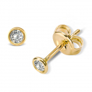 Lovebird Ohrstecker mit Brillant 0,10 ct. Gold 585/000