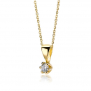 Lovebird Collier mit Brillant 0,05 ct. Gold 585/000